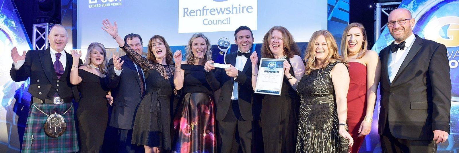 Renfrewshire Council accepting award